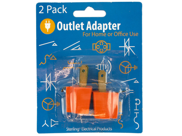 Case of 24 - Grounding Plug-in Outlet Adapters