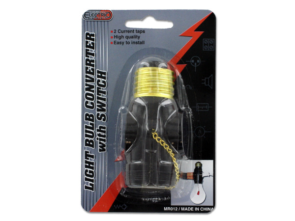 Case of 24 - Light Bulb Converter with Switch