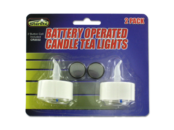 Case of 24 - Decorative LED Tea Light Candles