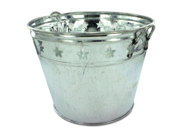 Case of 12 - Tin Bucket with Stars