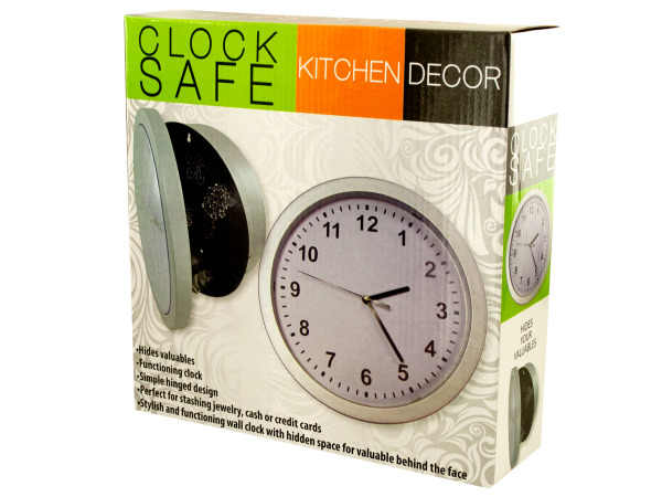 Case of 1 - Kitchen Wall Clock Safe
