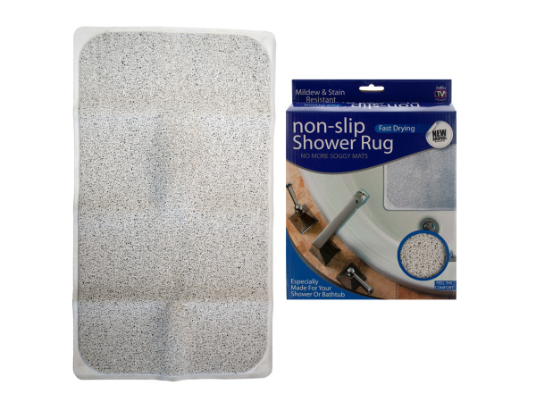 Case of 1 - Fast Drying Non-Slip Shower Rug