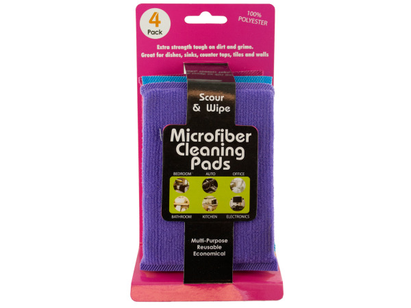 Case of 12 - Multi-Purpose Microfiber Cleaning Pads