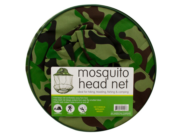 Case of 5 - Mosquito Head Net Hat