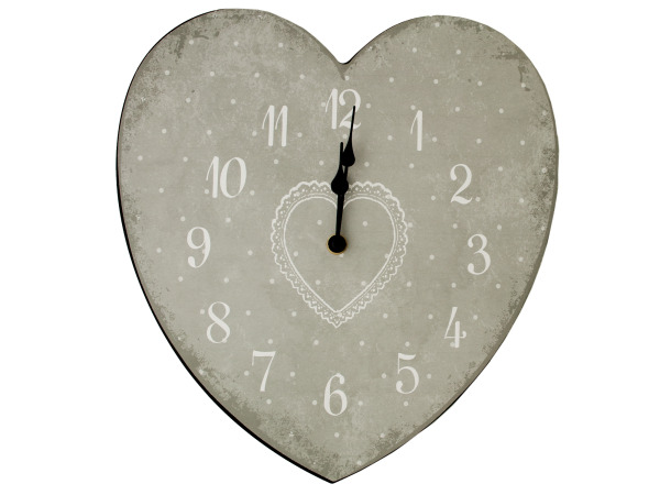 Case of 1 - Heart Shape Wall Clock