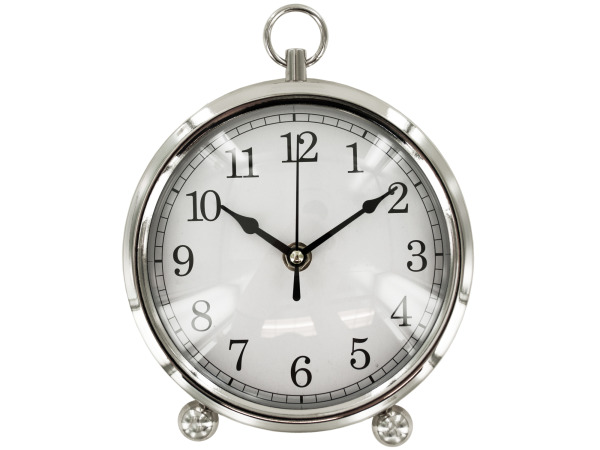 Case of 1 - Silver Desk Clock