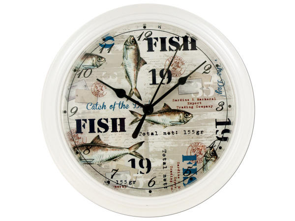 Case of 4 - Fishing Theme Clock