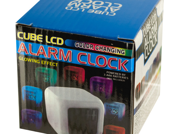 Case of 5 - LED Color Changing Digital Alarm Clock
