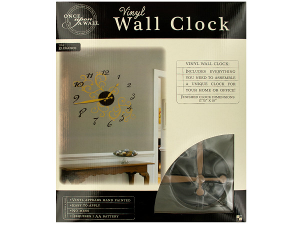 Case of 2 - Elegance Vinyl Wall Clock