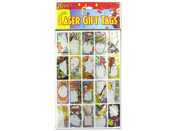 Case of 24 - Laser Sticker Birthday Gift Tags