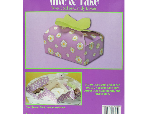 Case of 24 - Spring Flowers Candy & Cookie Boxes
